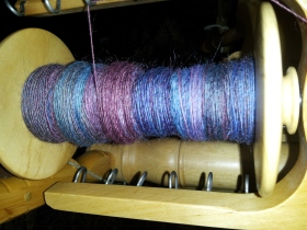 On the bobbin, pardon the glare, it was late.